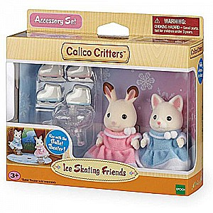 Calico Critters Ice Skating Friends Playset, Multicolor