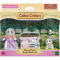 Calico Critters - Patty and Paden's Double Stroller Set