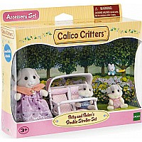 Calico Critters Patty and Paden's Double Stroller Set