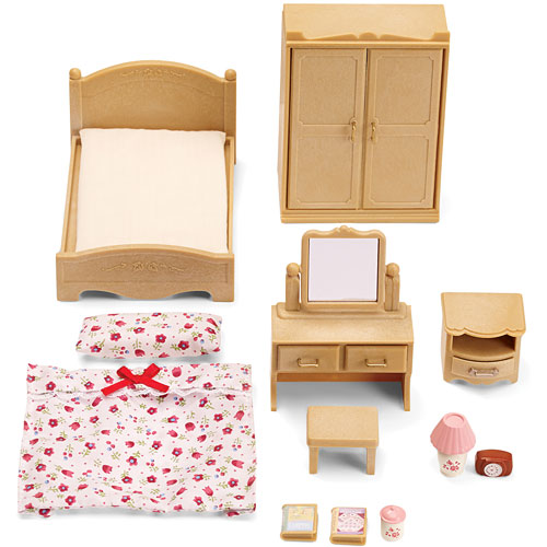 calico critters bedroom calico critters parent s bedroom set minds toys 10974
