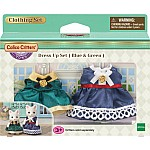 Dress Up Set Blue & Green Calico Critters