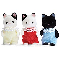 Calico Critters Tuxedo Cat Triplets
