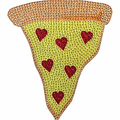 Pizza Slice Small Rhinestone Decal