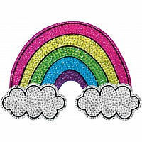 Rainbow and Clouds Small Rhinestone Decal
