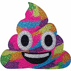 Rainbow Poop Small Rhinestone Decal