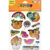 Sloth Pop-Up Stickers
