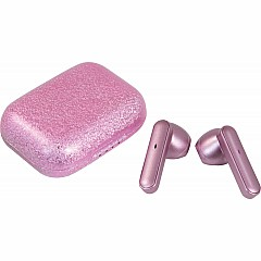 Pink Gliitter Compact Earbuds