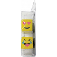 Emoji Cube Mini Eraser Set