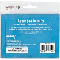 Assorted Donuts Mini Eraser Set