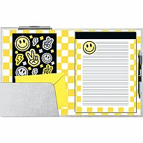 Checkered Smiley Clipboard