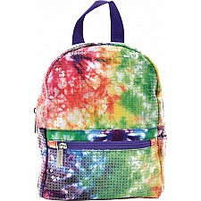 Rainbow Sequin Tie Dye Mini Backpack