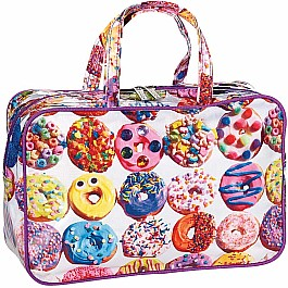 Assorted Donuts Large Cosmetic Bag