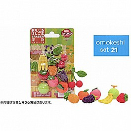 Made-in-Japan Iwako Fruits Erasers (6 pieces)