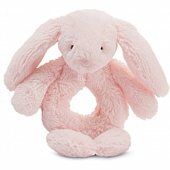 Bashful Light Pink Bunny Ring Rattle