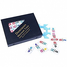 Double Twelve Dominoes with Numbered Tiles - Mexican Train