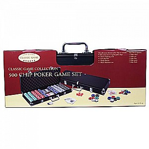500 Heavy-Weight Poker Chips in Black Aluminum Case