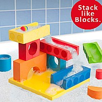 BathBlocks Floating Ball Run & Waterfall Set