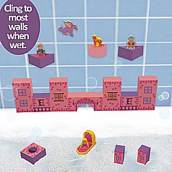 Bath Blocks 21 PC Floating Castle Set In Reusable Storage Bag