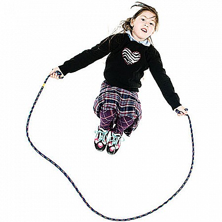 8' Confetti Jump Rope Purple