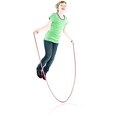 8' Red Confetti Jump Rope
