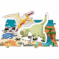Educational Puzzle- The Dinosaurs - 200 Pcs