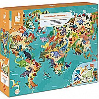 200 Piece Dinosaur Map Puzzle