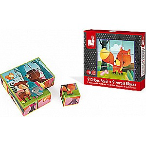 Forest Animals Cube Puzzle