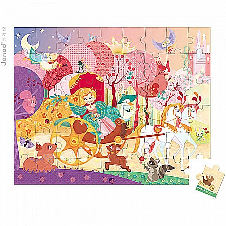 Hat Boxed 54 Pcs Puzzle Princess Coach