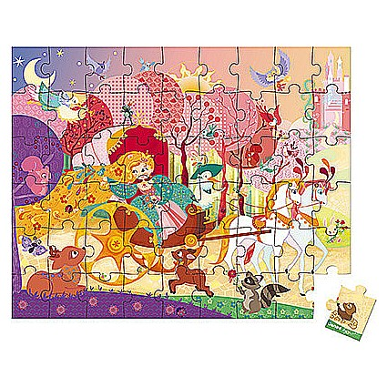 54 PC PUZZLE PRINCESS AND THE COACH