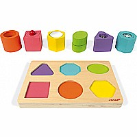 I Wood Shapes & Sounds 6-Block Puzzle