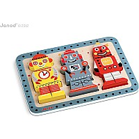 Janod Robots Chunky Puzzle