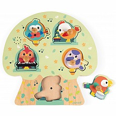 Musical Knob Puzzle - Birdy Party