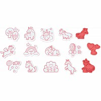 Set Of 15 Stampinoo Unicorns Stamps