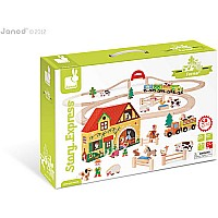 Janod Story Express Farm Train Set