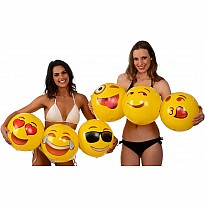 "Emoji Beach Balls - 18"" - 6 pack"
