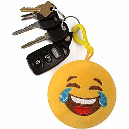 Emoji Plush Keychain Squeeze & Sound - Tears of Joy