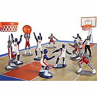 Kaskey Kids Basketball Guys - Inspires Imagination with Open-Ended Play - Includes 2 Full Teams and More - For Ages 3 and Up