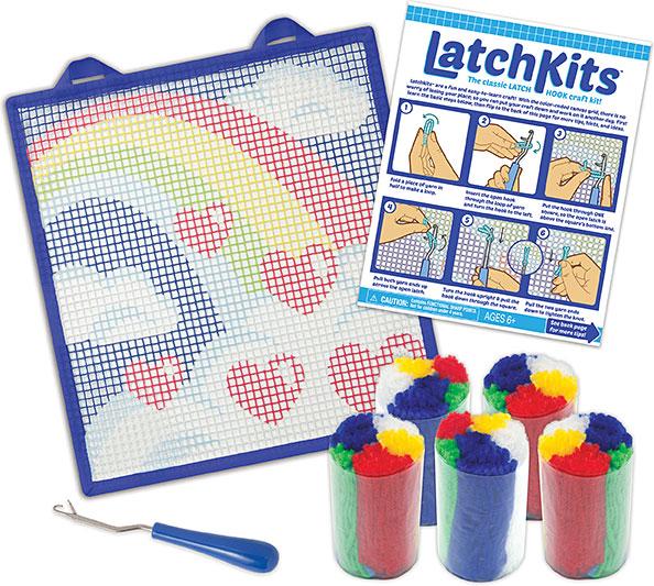 Latchkits Rainbow Mini Rug Craft Kit Olde Towne Toys