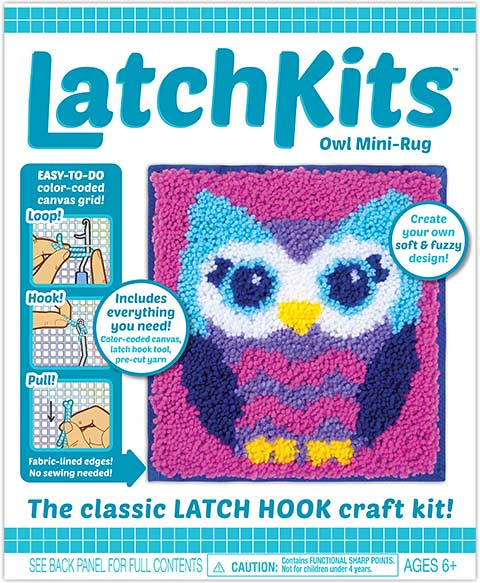 Poodle 3D LatchKits Mini-Rug Sewing Kit The Classic Latch Hook Craft Kit
