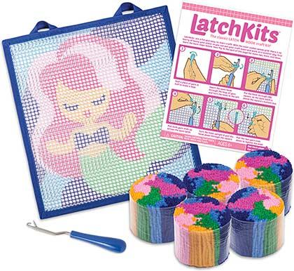Latchkits Mermaid Mini Rug Craft Kit Timeless Toys Chicago