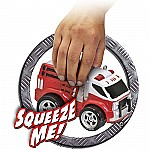 Kid Galaxy Squeezable Remote Control Fire Truck. RC Toy for Preschool Kids Ages 2 and Up, Red