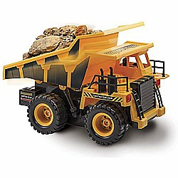 Remote Control Dump Truck. 6 Function RC Construction Toy Vehicle, 27 MHz