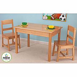 Table &  2 Chair Set Natural