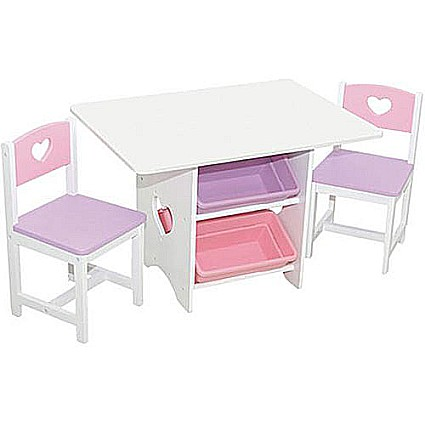 Table & 2 Chair Set - Heart