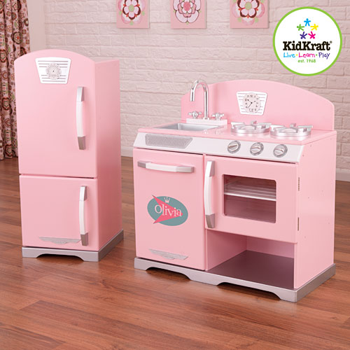 Pink Retro Kitchen With Fridge The Learning Tree