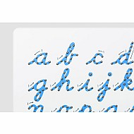 Cursive Lower Case Magnatab