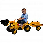 Caterpillar Kid Tractor with Trailer