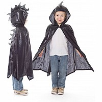 Dragon Cloak Black / Silver - One Size