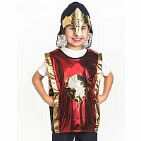 Red Knight & Gold Helmet Set - One Size