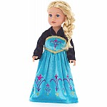 "Doll Dress Ice Queen Coronation - 16""-20"" Doll/Plush"